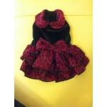 Платье-красное бархат